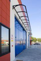 Auvent en aluminium pour portes et fenêtres (couverture en verre)