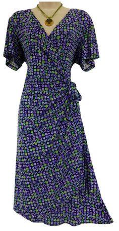 18W 2X SEXY Womens FLATTERING PRINT WRAP DRESS Spring Summer Party PLUS SIZE #dressbarn #Wrap #Versatile