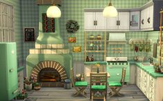 Building Games 664281013767364478 - here are some decor ideas for a mint green kitchen Source by Sims 4 House Plans, Sims 4 House Building, Building Games, Sims 4 Loft, Sims 4 House Design, The Sims 4 Lots, Model House Plan, Casas The Sims 4, Sims 4 Gameplay