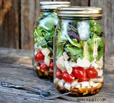 So as to insure that your salad is delicious when it is time to eat it is important to layer in a specific order.