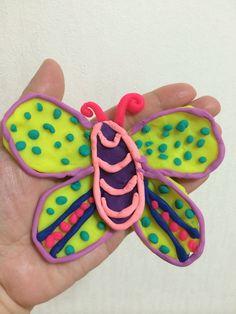 Playdough butterfly!!!