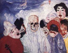 EXPRESIONISMO ALEMAN- James Ensor, Máscaras y Muerte, 1897
