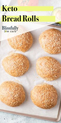 Keto bread rolls the best low carb bread recipe! these light and airy rolls are made with almond flour and are low net carbs blissfullylowcarb com keto lowcarb bread rolls almondflour easy recipe Easy Keto Bread Recipe, Lowest Carb Bread Recipe, Bread Recipes, Baking Recipes, Diet Recipes, Best Low Carb Bread, No Bread Diet, Coconut Flour Bread, Almond Flour Recipes