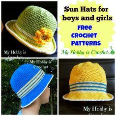 Children crochet sun hat  #crochet #freepattern #myhobbyiscrochet