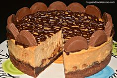 Reese's Peanut Butter Cup Cheesecake On A Brownie Crust - Hugs and Cookies XOXO ! This will be my birthday cake! Peanut Butter Cup Cheesecake, Brownie Cheesecake, Reeses Peanut Butter, Cheesecake Recipes, Dessert Recipes, Cheesecake Crust, Cup Brownie, Cheesecake Cupcakes, Cheesecake Decoration