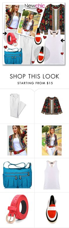 """""""lovenewchic 5"""" by polly301 ❤ liked on Polyvore featuring Lands' End, ADIEU, sponsored, newchic and lovenewchic"""