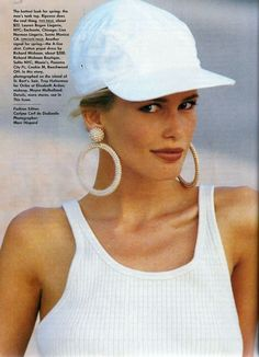 claudia Schiffer, Vogue US January 1992
