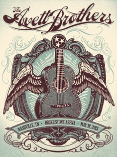 Avett Brothers | Status Serigraph | May 2013 - Nashville #THERE