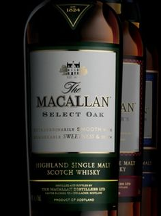 The Macallan is a known brand of scotch whisky. Owned by the Edrington group, their first single malt whisky was distilled in 1824. Their popular Sherry oak series, are available in 12-year-old and 18-year-old editions. Another notable series is the 1824 collection.