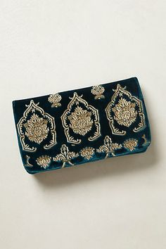 Damask Scroll Clutch, now on sale.