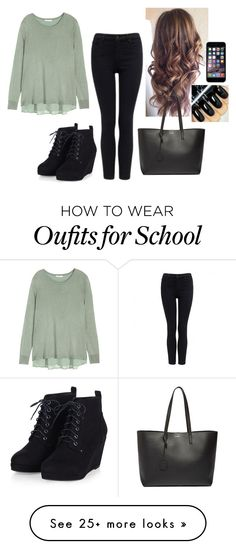 """""""Love me """" by hannahmcpherson12 on Polyvore featuring H&M, Forever New and Yves Saint Laurent"""