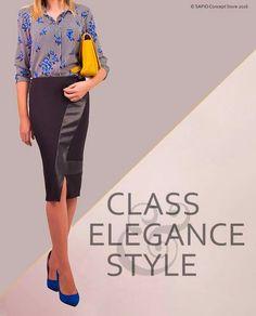 #pencilskirt #blackleather www.sapiostore.ro Stylish Outfits, Personal Style, Black Leather, Feminine, Glamour, Elegant, Clothing, Dapper Clothing, Women's