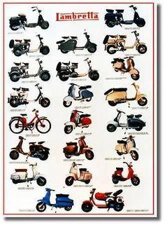 Lambretta Posters from Road & Race Classic Motorcycles Lambretta Scooter, Vespa Scooters, Vespa Models, Custom Moped, Motor Scooters, Classic Motors, Moto Guzzi, Cool Bikes, Tractor