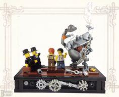 Inventors and Investors Lego Minion, Lego Robot, Robots, Bionicle Lego, Lego Mecha, Lego Steampunk, Lego Gears, Lego Simpsons, Lego Creator Sets