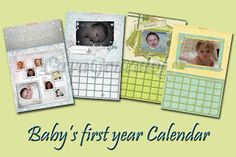 Preserving Heritage: Calendar idea: Baby's first year