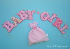 Baby girl garlandfabric letter by LittleFairyCottage on Etsy, $40.00