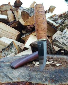 Puukko with birch bark handle by Paweł Michalski Custom Knives