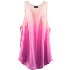 Gently flared jersey vest top with a dip-dye effect, raw mesh edges around the neck and armholes, and a rounded hem. Details 100% polyester. Machine wash at 40˚