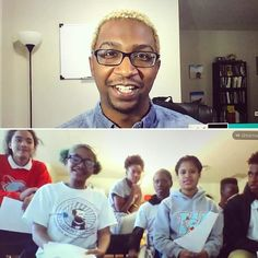 """On Friday we kicked off our Black History Month series in partnership with the Ron Brown Scholar Program! Marquise McGraw a a Ph.D. candidate in Economics at the University of California Berkeley hosted a flashchat with Mr. Kohler's class in New Orleans. His number one piece of advice for the students? """"Never stop learning. Never."""""""