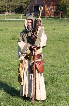 Robe mit Mantel und Cappa für den Kelten-Magier. Gemacht von https://www.facebook.com/KatlasKleiderkammer/