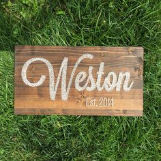 "$55, 22"" width, letters are 12"", Last Name with Established Date Wedding Gift MADE by WoodlandLane"