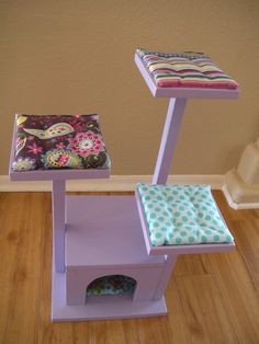 Items similar to Cat Tree - Cat House - Cat Bed for American Girl Doll Pets on Etsy