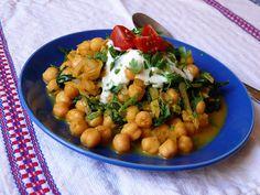 Vöröskaktusz diétázik: Csicseris spenótos curry 10 perc alatt Curry, Chana Masala, Ethnic Recipes, Food, Curries, Essen, Meals, Yemek, Eten