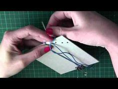 ▶ Tutorial Encuadernacion Japonesa - YouTube Japanese Binding, Bookbinding Tutorial, Cord Organization, Scrapbooking, Card Making Tutorials, All Paper, Book Journal, Book Binding, Book Making