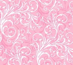 Pink Butterfly Wallpaper | Pink White KD1727 Layered Scroll Wallpaper is prepasted and has 24 ...