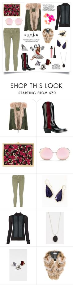 """Fur Lined Parka..**"" by yagna ❤ liked on Polyvore featuring Mr & Mrs Italy, Calvin Klein 205W39NYC, Alice + Olivia, Matthew Williamson, Current/Elliott, Kendra Scott, Vera Wang, Contempoh, Marc Jacobs and Yves Salomon"