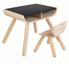With a sleek bent wood design our multifunctional table is perfect for the active toddler. There are 2 compartments for storage, sturdy support and a desk… Desk And Chair Set, Table And Chairs, Dining Chairs, Wooden Chairs, Wooden Desk, Desk Chair, Wooden Toys, Tables, Childrens Bedroom Furniture