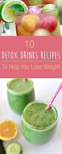 Are you attempting to get more fit, enhance your digestive wellbeing, battle inflammation and help your immune system? Drinking a glass of detox drink (or a few) a day can help you do that!   Regular H2O can without much of a stretch be changed into detox drink, by including organic products, vegetables and herbs. While all detox drinks formulas plan to flush hurtful poisons from the body, certain fixings add extra advantages.  Here's our collection of detox drinks recipes that will help...