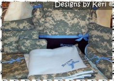 Boutique all in 1 Military Baby Shower Duffle Diaper bag set Marine abu Army acu AirForce abu or Navy 8 items in set ME WANT!!!!