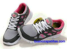 reputable site 02fc6 7192e Mujer Nike Free Run 2 Zapatillas (color   vamp - gris, rosa , en