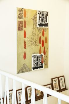 H stands fro Hakuhodo, a collage artworks by talented Miss Ika Vantiani on the stairway.