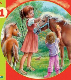 Marcel Marlier poney 2 On Children in Art History site Marcel, Vintage Images, Vintage Art, Illustration Photo, Gifs, Ad Art, Art Music, Vintage Children, Art History