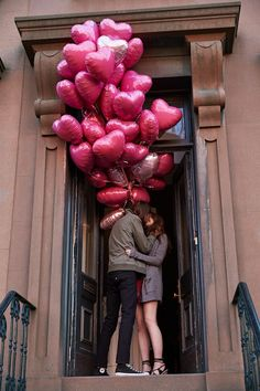 Valentine's Day balloons romance...I love balloons!  :)