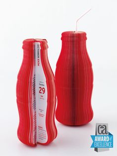 "Coca-Cola Design Calendar by Ayse Celem Design, 365 pages, 360°!  Won an ""Award of Excellence"" from Communication Arts and was featured in the Design Annual. Won a second international award from HOW Magazine. And a third award from the Turkish National Graphic Design Association."