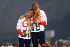 Hannah Mills and Saskia Clark win 470 sailing gold