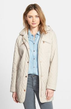 Steve+Madden+Mini+Quilted+Jacket+with+Removable+Hood+available+at+#Nordstrom