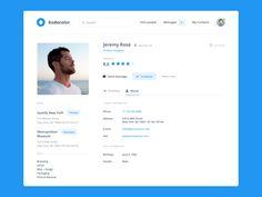 50 User profile page — Design Inspiration | by Muzli | Muzli - Design Inspiration Dashboard Design, Web Dashboard, Ui Web, Web Design Quotes, Web Design Tips, Page Design, Website Design Layout, Web Layout, Profile Website