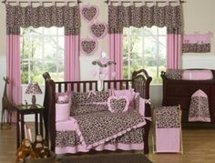 If I ever have a baby girl her room will be this with coral instead of light pink.