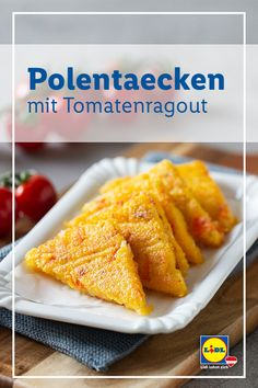 Polenta, Good Food, Veggies, Appetizers, Food And Drink, Healthy Recipes, Snacks, Dishes, Cooking