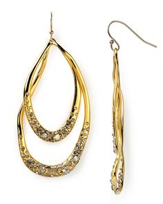 Alexis Bittar Crystal Encrusted Gold Orbiting Tear Earrings - All Jewelry - Jewelry - Jewelry & Accessories - Bloomingdale's