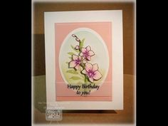 Orchid Card with Vellum Sentiment - stampTV
