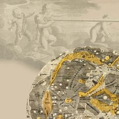 Astronomy Print  Lunar maps Atlas Coelestis