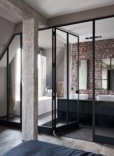Industrial Paris Loft With Views Over The City - Gravity Loft, ideas, home, house, apartment, decor, decoration, indoor, interior, modern, room, studio.