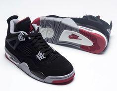 59decc46b0fb03 Nike Air Jordan 4 Bred 2019 Release Date. The Nike Air Jordan 4 Bred Black  Cement will return with Nike Air heels for its Anniversary. SneakerDropDate