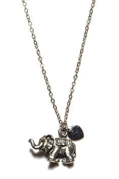Zsa Zsa Jewels Elephant Love Pendant Necklace by Zsa Zsa Jewels on @nordstrom_rack