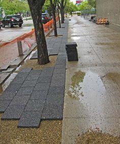 piso drenante em calçada ecológica
